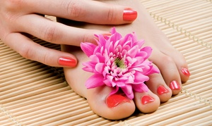 Celebrity School of Beauty: Classic or Gel Mani-Pedi with Paraffin Treatment for One or Two at Celebrity School of Beauty (Up to 54% Off)