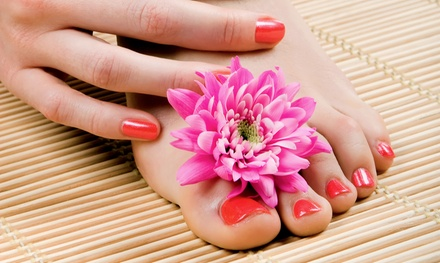 Classic or Gel Mani-Pedi with Paraffin Treatment for One or Two at Celebrity School of Beauty (Up to 56% Off)