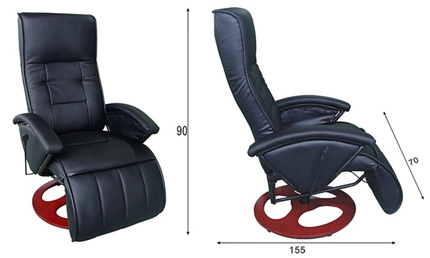 vidaxl massagesessel mit heizfunktion und 10 massageprogrammen inkl versand um 139 35. Black Bedroom Furniture Sets. Home Design Ideas