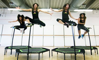 image for Five or Ten Trampoline Jumping Classes at Two Locations with JumpingWithUS (Up to 68% Off)