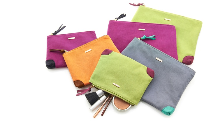 Gorjana : Gorjana Small or Large Chandler Canvas Cosmetics Pouch (Up to 51% Off). Free Shipping and Returns.