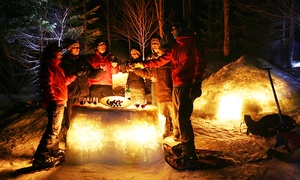 Éco Plein Air: Evening Snowshoeing with Port Wine and Chocolate Tasting for 1, 2, 4 or 6 with Éco Plein Air (Up to 55% Off)