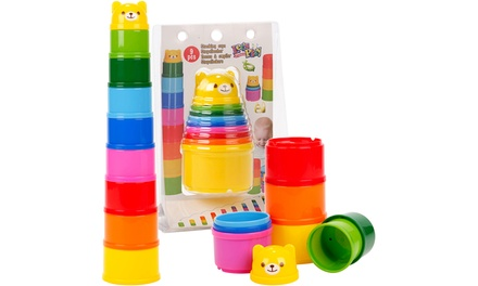 Nine-Piece Stacking Cup Set