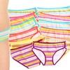 12-Pack of Women's Angelina Striped Bikini Panties