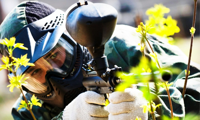 Action Packed Paintball - Jordan: Outdoor Paintball Package for One, Two, or Four with Equipment and Paintballs at Action Packed Paintball (Half Off)