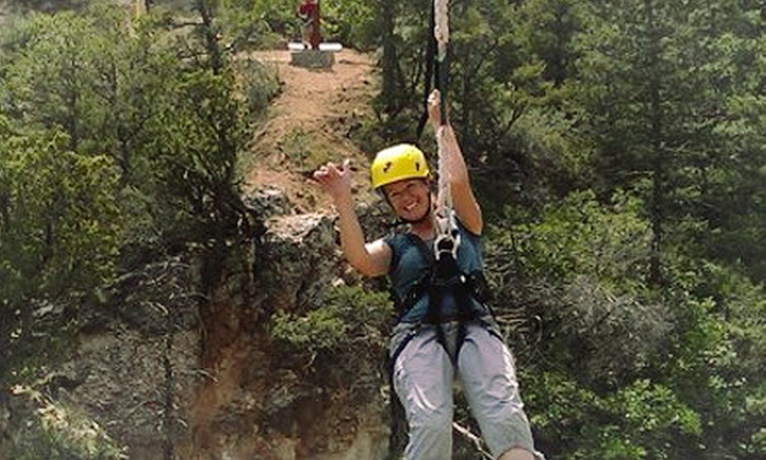Adventures Out West - Manitou Springs: $42 for a Real Deal Zipline Tour from Adventures Out West ($85.50 Value)