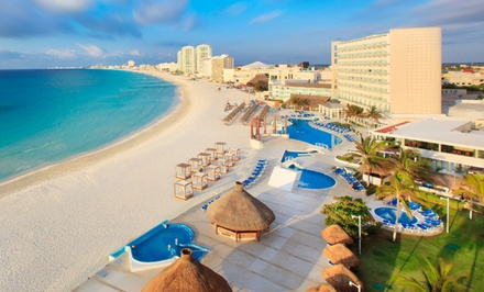 Stay with Optional All-Inclusive Package at Krystal Cancun in Cancun. Dates into March Available. Includes Taxes & Fees.