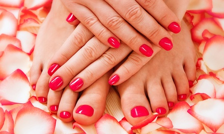3 manicure e pedicure con smalto