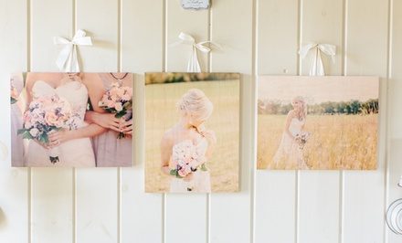 3 Custom Wood Photoboards from PhotoBarn. Multiple Sizes Available from $29.99–$49.99.