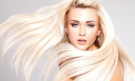 Haircut and Blow-Dry with Optional Partial Highlights or Full Highlights and Color at KT Hair Design (Up to 47% Off)
