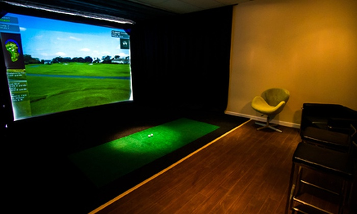 The Golf Lounge - Richmond Hill: Two- or Three-Hour Golf-Simulator Session and Pub Snacks for Up to Six at The Golf Lounge (Up to 65% Off)