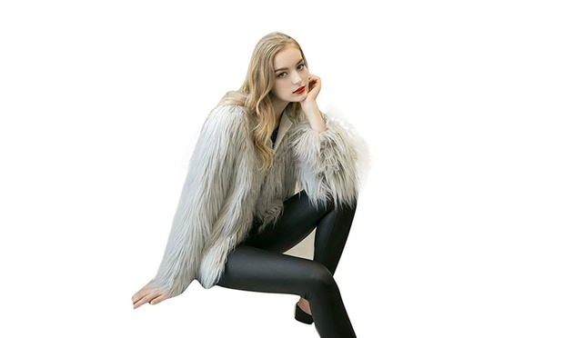 Womens Faux Fur Jacket: One ($29) or Two ($49)