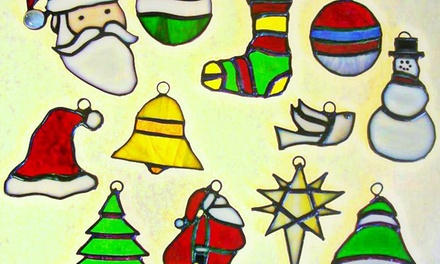 Introductory Stained-Glass, Fusing, or Mosaic Class, or Christmas Ornament Class at Glassique (Up to 64% Off)