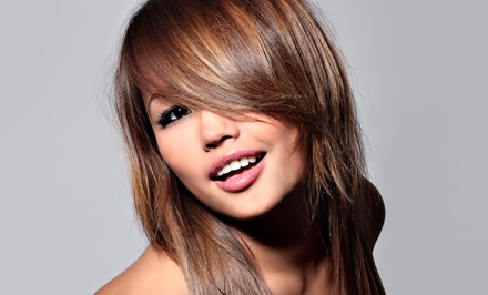 Gloss Treatment with Single-Process Color or Partial or Full Highlights at Vasken Demirjian Salon (Up to 65% Off)