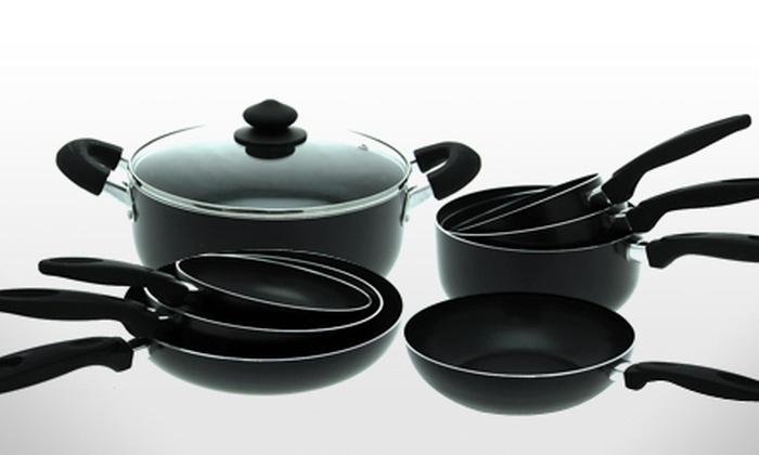 batterie de cuisine sitram 9 pi ces en aluminium groupon shopping. Black Bedroom Furniture Sets. Home Design Ideas