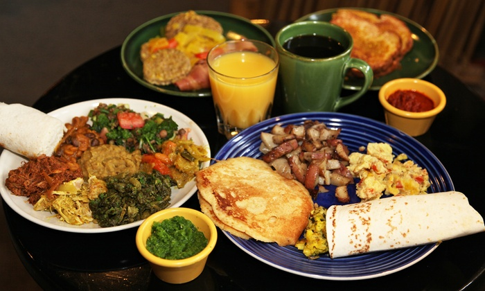 GoJo Ethiopian Cuisine - Eastown: Ethiopian Brunch Buffet for Two or Four on Saturday or Sunday at GoJo Ethiopian Cuisine (Up to 54% Off)