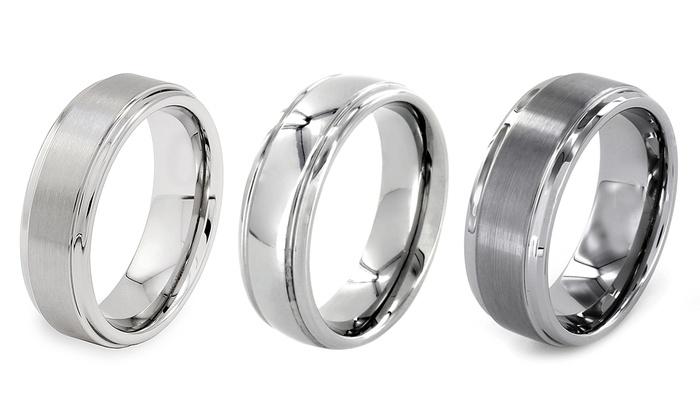 Mens Tungsten Wedding Rings Groupon