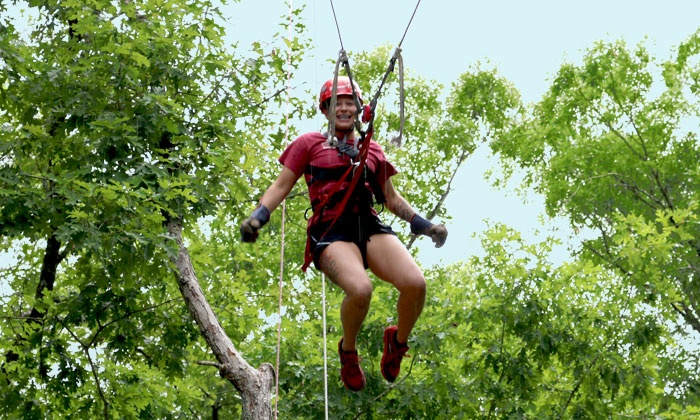 ZipQuest - Fayetteville: Swing Shot Ride for Two or Four at ZipQuest (Up to 60% Off)