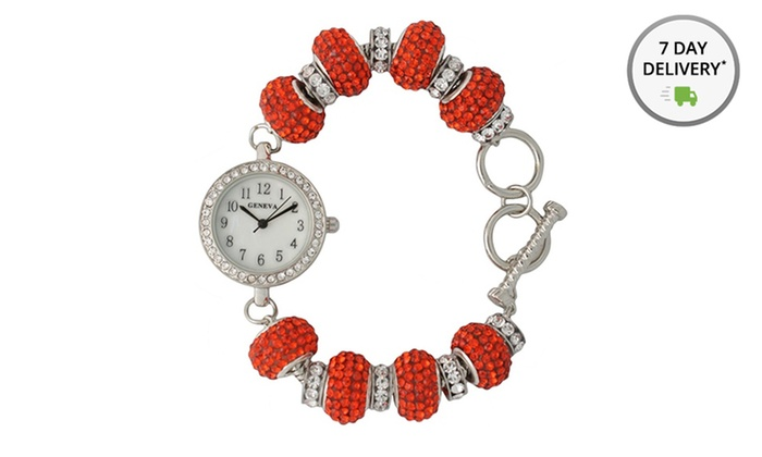 Crystal-Charm Bracelet Watch: Crystal-Charm Bracelet Watch. Multiple Styles Available. Free Shipping and Returns.