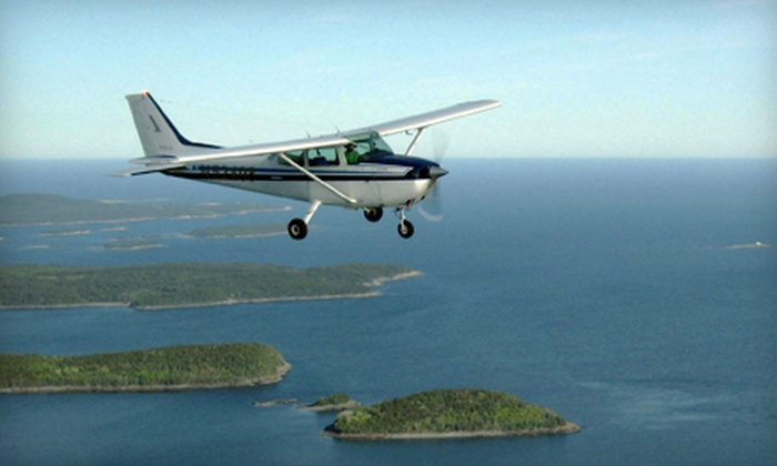 Airlink LLC - Waterville: Belgrade Lakes Scenic Flight for Two or Three from Airlink LLC (Up to 44% Off)