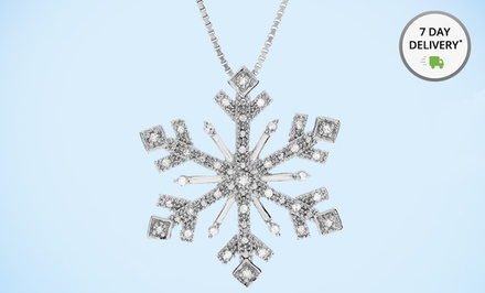 1/4 ct.tw. Diamond Snowflake Pendant. Free Returns.