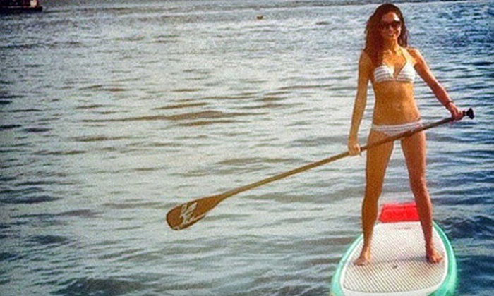 Wayward Captain Watersports - On The Docks Behind American Junkie: Standup-Paddleboard Rental or Guided Tour from Wayward Captain Paddleboards (Up to 58% Off). Four Options Available.