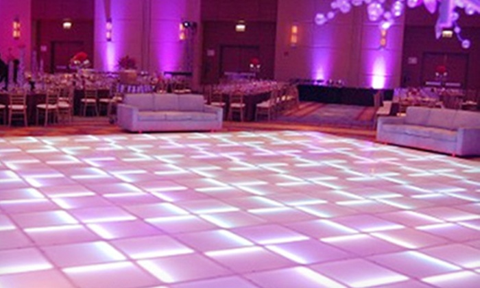 Any Event Mobile DJ - Fort Worth: DJ Service or 4-Hour LED Dance-Floor Rental from Any Event Productions (Up to 52% Off). Three Options Available.