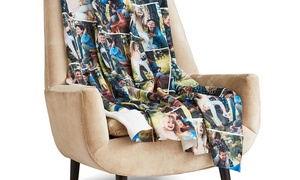 Up to 75% Off Custom Fleece Photo Blankets from Collage.com   at Collage.com, plus 6.0% Cash Back from Ebates.