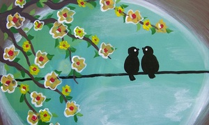 Two-hour Byob Painting Class For One Or Two At Whimsy Art Studio (up To 53% Off)