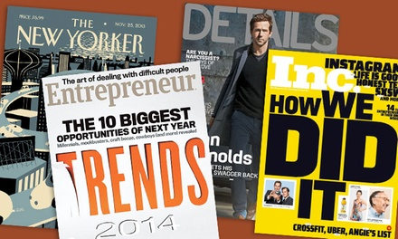 Up to 58% Off a One-Year Subscription to a Magazine