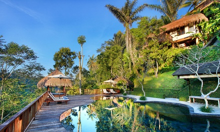 Bali, Ubud: From $329 for a Jungle View Stay for Two with Breakfast, Massage and Bike Hire at Nandini Bali Resort & Spa