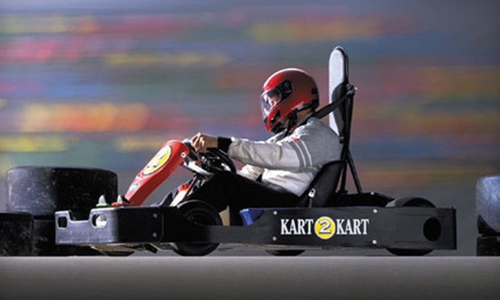 Kart 2 Kart - Sterling Heights: $19 for Two Go-Kart Races and Two Fountain Drinks at Kart 2 Kart in Sterling Heights (Up to $37 Value)