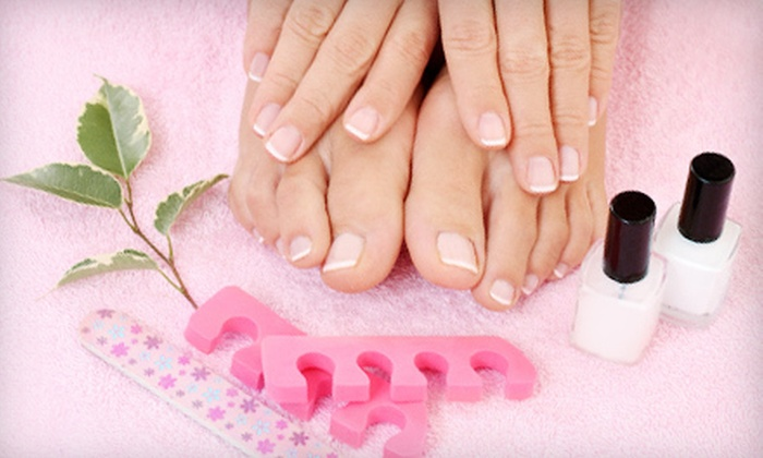 Angela Nails And Spa - Cypress Park: One or Two Gel Manicures with Deluxe Pedicures, or One Deluxe Pedicure at Angela Nails And Spa (Up to 54% Off)