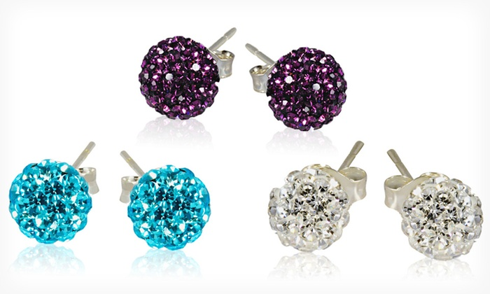 3 Pairs of Crystal Ball-Stud Earrings: $10.99 for 3 Pairs of Sterling Silver Crystal Ball-Stud Earrings ($120 List Price). Multiple Color Packs. Free Returns.