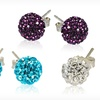 $10.99 for 3 Pairs of Crystal Ball-Stud Earrings