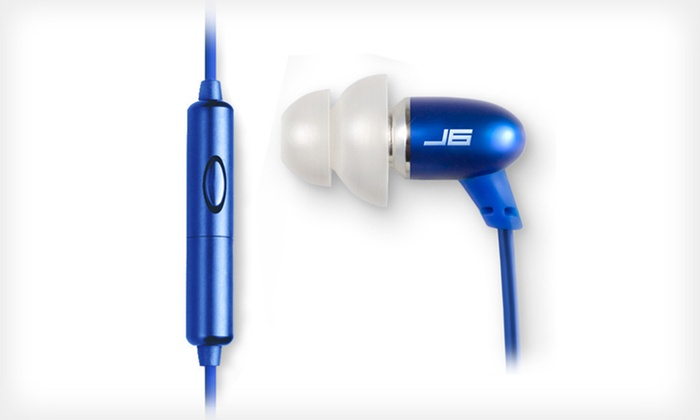 JBuds J6M Earbuds with Hands-Free Microphone: $18.99 for JBuds J6M Earbuds in Black, Blue, Pink, or Silver ($89.95 List Price).