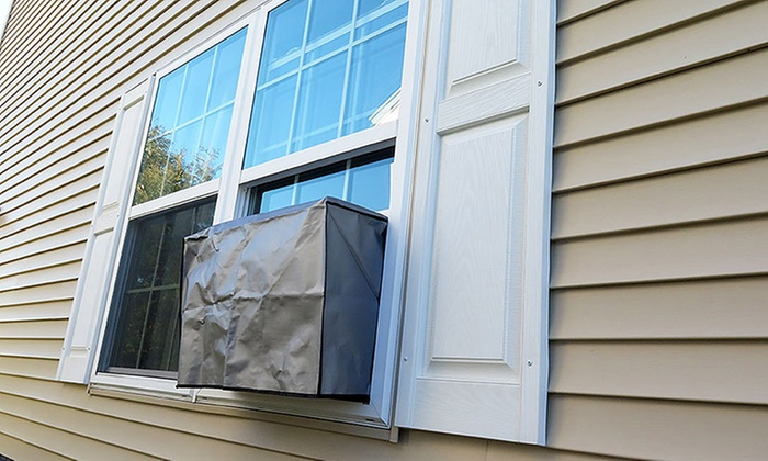 Evelots air conditioner cover groupon goods for Window air conditioner covers exterior