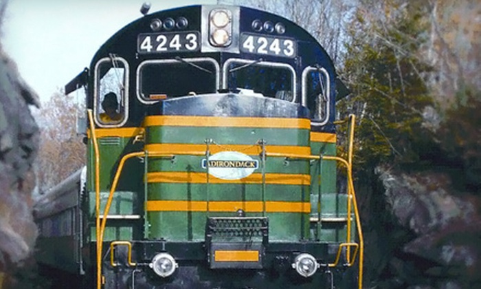 Adirondack Scenic Railroad - Union Station: Scenic Train Ride from Utica to Thendara for Two or Family of Four from Adirondack Scenic Railroad (Up to 51% Off)