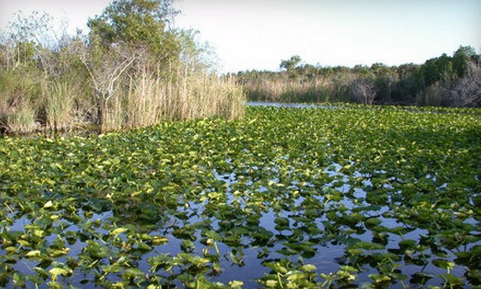 Everglades Holiday Park - Southwest Ranches: Airboat Tour and Alligator Show for Two or Private Airboat Tour for Four at Everglades Holiday Park (Up to 51% Off)