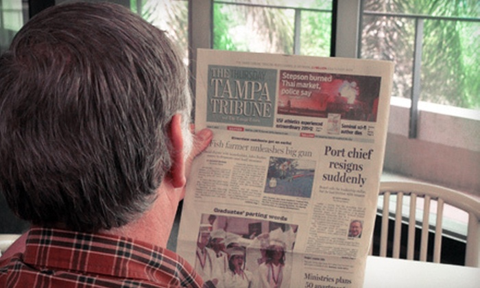 """""""Tampa Tribune"""" - Tampa Bay Area: 52-Week Sunday Subscription to """"Tampa Tribune"""" with Option of Daily E-Edition Subscription (Up to 80% Off)"""