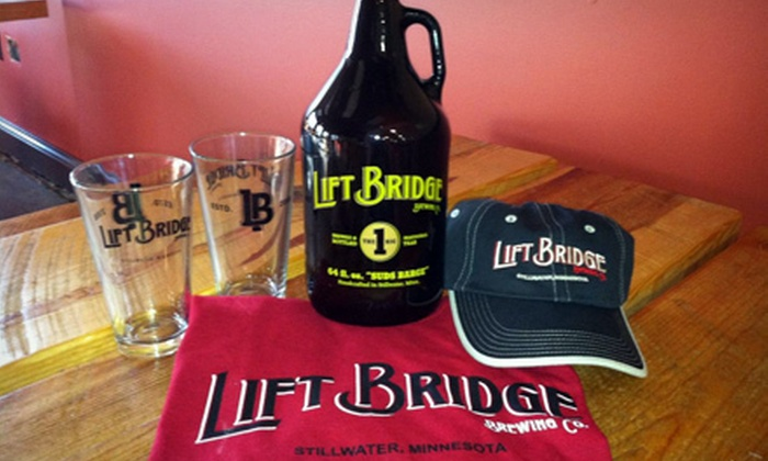 Lift Bridge Brewing Company - Stillwater: $30 for a Growler of Beer, Two Pint Glasses, and Apparel at Lift Bridge Brewing Company ($61 Value)