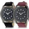 Steeltime Men's Faux-Leather Watch