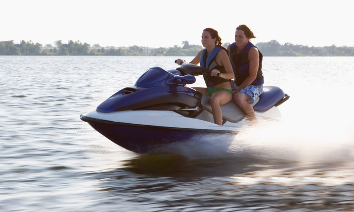 Vancouver Water Adventures - Granville Island : Two-Hour Tandem Jet-Ski Rental or Tour for Two from Vancouver Water Adventures (50% Off)