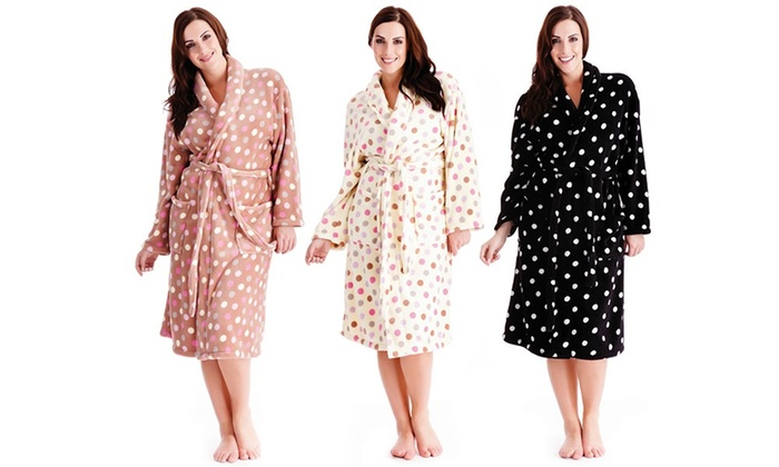 Super Soft Fleece Dressing Gown | Groupon Goods