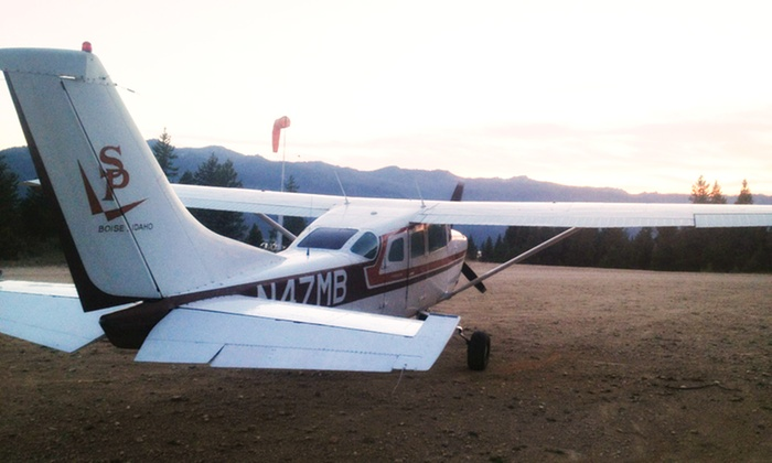SP Aircraft - SP Aircraft: 60-Minute Sawtooth Mountain Aerial Tour for Two, Three, Four, or Five at SP Aircraft (Up to 62% Off)