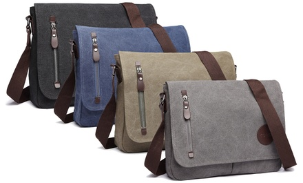 Mens Canvas Messenger Bag in Choice of Colour