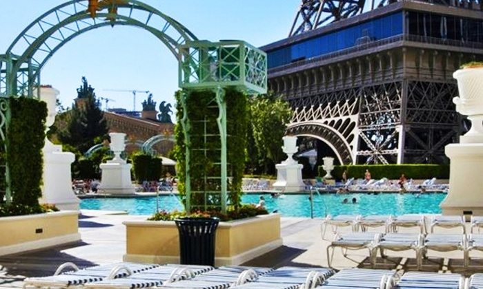 Soleil Pool at Paris Las Vegas - Chateau at Paris Las Vegas: Pool Outing with Optional Daybed, Cabana or Villa Rental at Soleil Pool at Paris Las Vegas (Up to 64% Off)