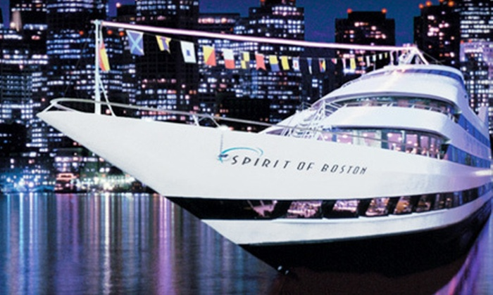 """Spirit of Boston - Seaport World Trade Center: Up to Three-Hour Dinner Cruise aboard """"Spirit of Boston,"""" Valid Sunday–Friday or on Saturday (Up to 53%Off)"""