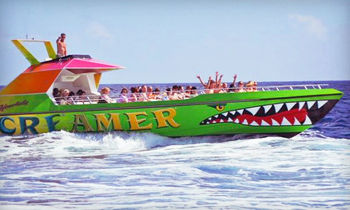 "X-Treme Parasail - Honolulu: 30-Minute High-Speed Boat Ride on the ""Honolulu Screamer"" for Two or Four from X-Treme Parasail (Up to 52% Off)"