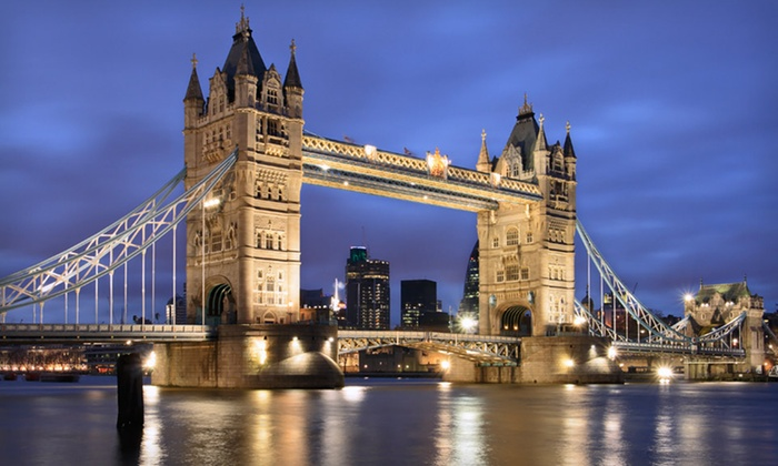Eight-Day London and Paris Vacation  - London SW8 1RN: Eight-Day London and Paris Vacation with Airfare, Accommodations, and Sightseeing Bus Tickets from Go-today